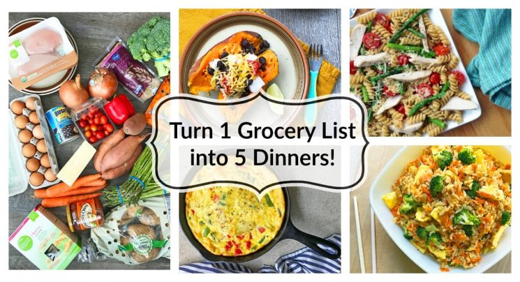 Turn One Grocery List into Five Healthy Dinners