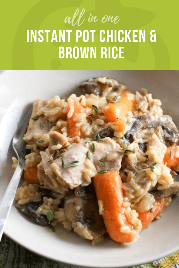 All-in-One Instant Pot Chicken and Brown Rice | Healthy Ideas and Recipes for Kids