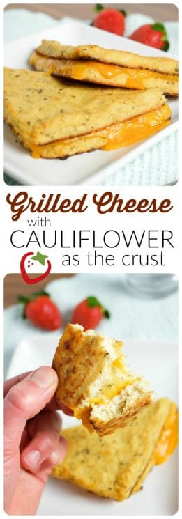 FOOD - Grilled Cheese with Cauliflower Bread | Super Healthy Kids | Food and Drink https://www.superhealthykids.com/grilled-cheese-cauliflower-crust/