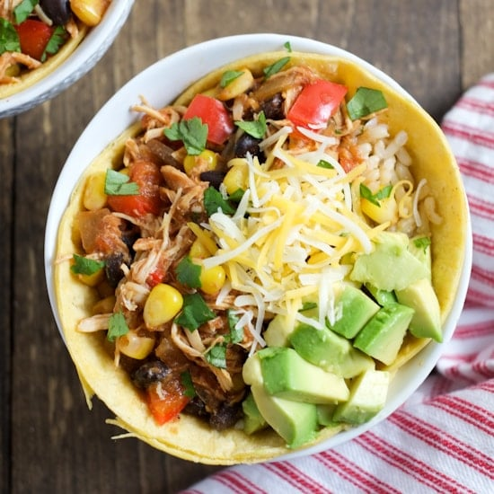 Slow Cooker Chicken Enchilada Bowls | Super Healthy Kids | Food and Drink