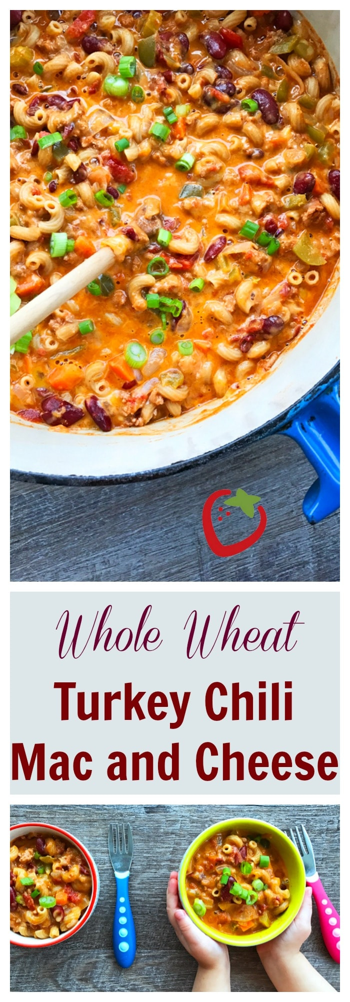 FOOD - Whole Wheat Turkey Chili Mac and Cheese. Southwestern flavor meets comfort food meets healthy family dinner. https://www.superhealthykids.com/mac/