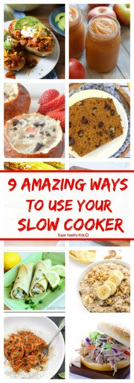 FOOD - 9 AMAZING Ways to Use Your Slow Cooker. Your slow cooker can make so many things you have probably never thought of! https://www.superhealthykids.com/9-amazing-ways-use-slow-cooker/
