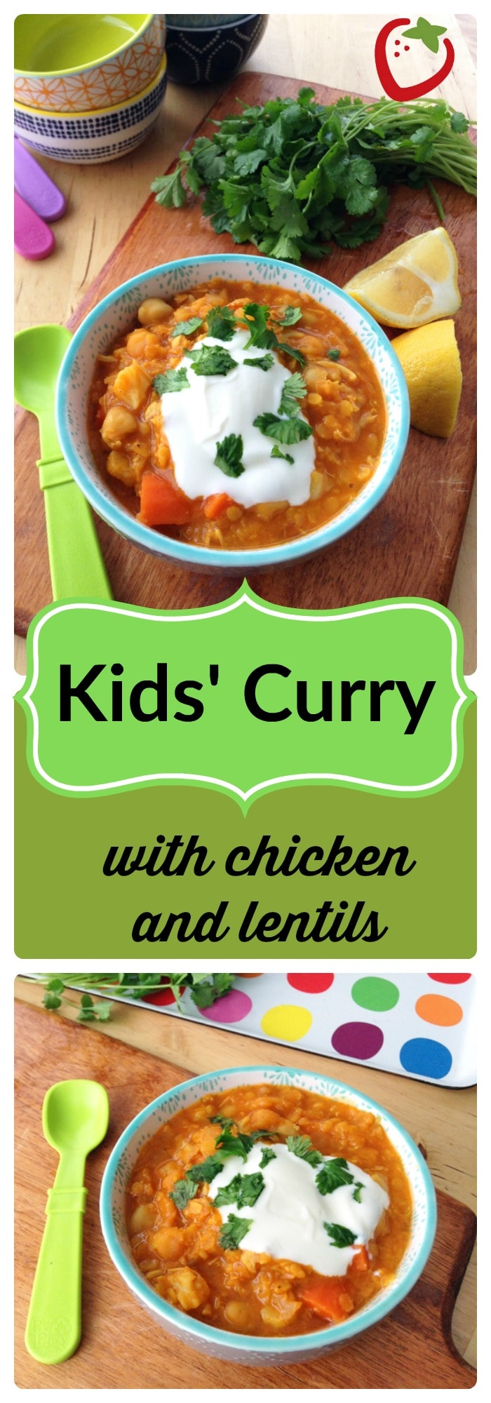 "FOOD - Kids' Curry with Chicken and Lentils. Redefine ""kid-friendly"" with this mild, warming, healthy curry packed with protein and vegetables. http://www.superhealthykids.com/kids-curry-with-chicken-and-red-lentils/"
