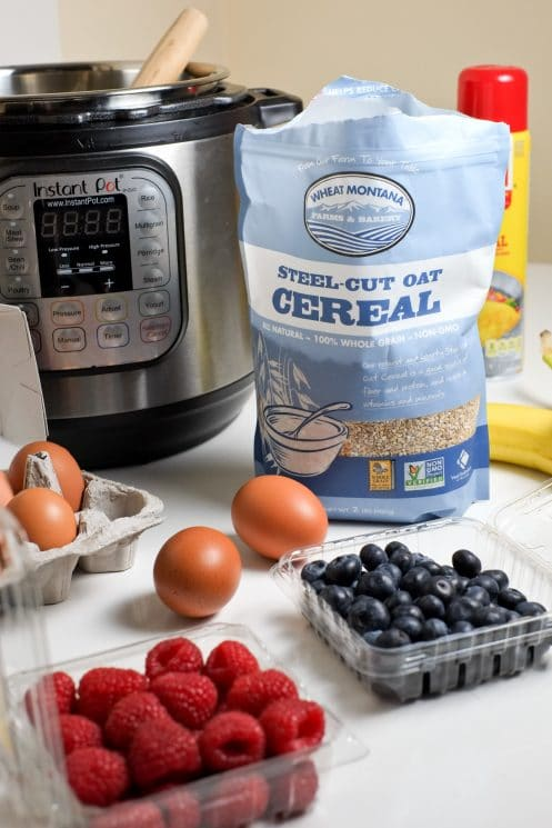Instant Pot Steel Cut Oatmeal (with eggs!) | Protein Packed Breakfast | Super Healthy Kids | Food and Drink