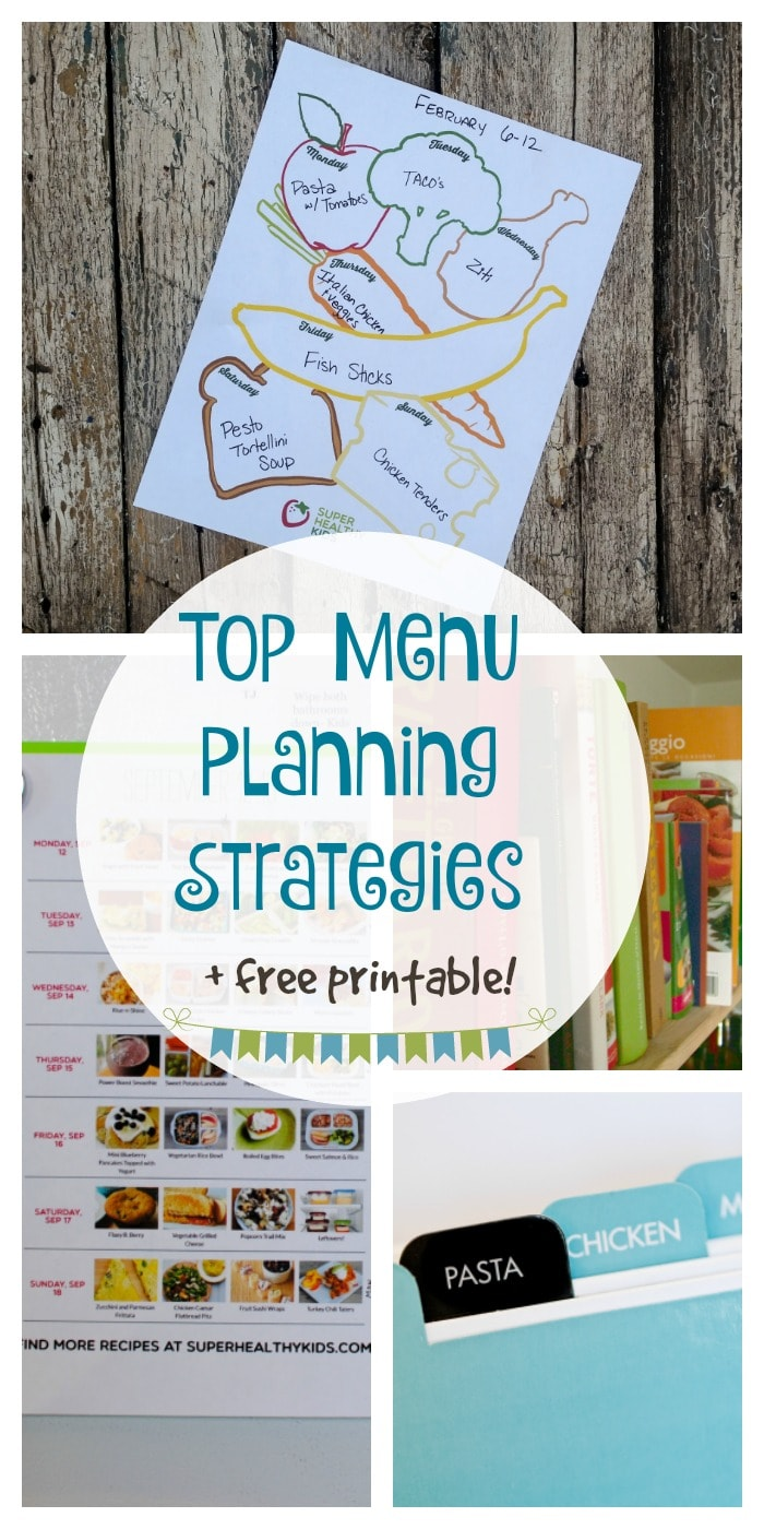MEAL PLAN - 4 Steps to Meal Planning Success. Master meal planning and eat healthfully with a system that fits your unique family! https://www.superhealthykids.com/the-complete-guide-to-meal-planning/
