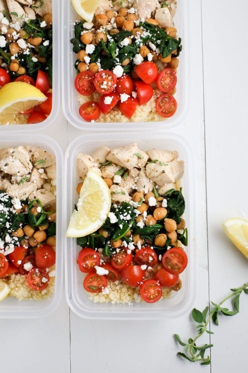 Make Ahead Lunch Bowls: Greek Chicken Lunch Prep | Super Healthy Kids | Food and Drink