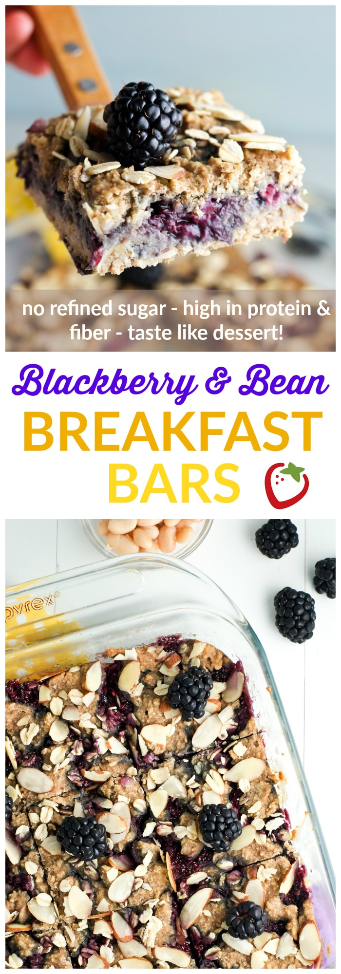 Food & Drink | Blackberry and Bean Breakfast Bars | Super Healthy Kids