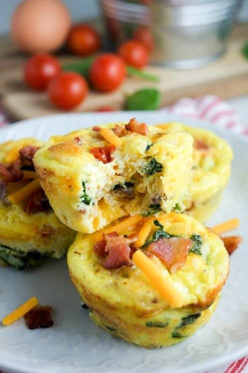 Bacon Spinach Tomato Breakfast Egg Cups Recipe Super