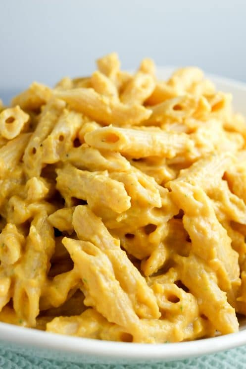 Creamy, cheesy, butternut squash pasta.
