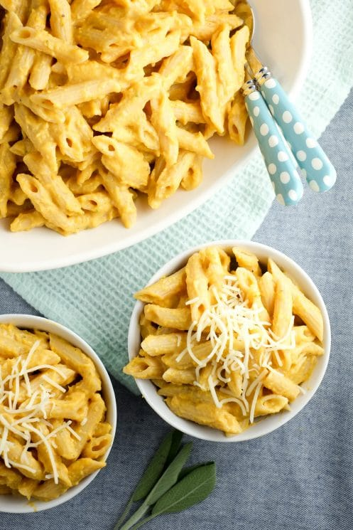 Kids and adults love this butternut squash pasta (packed with protein from Barilla® ProteinPLUS® penne!).