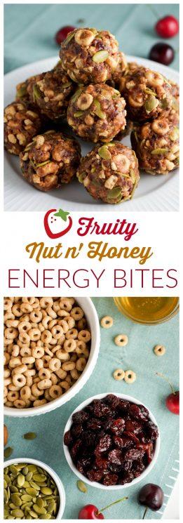 FOOD- Fruity Nut n' Honey Energy Bites Recipe | Super Healthy Kids