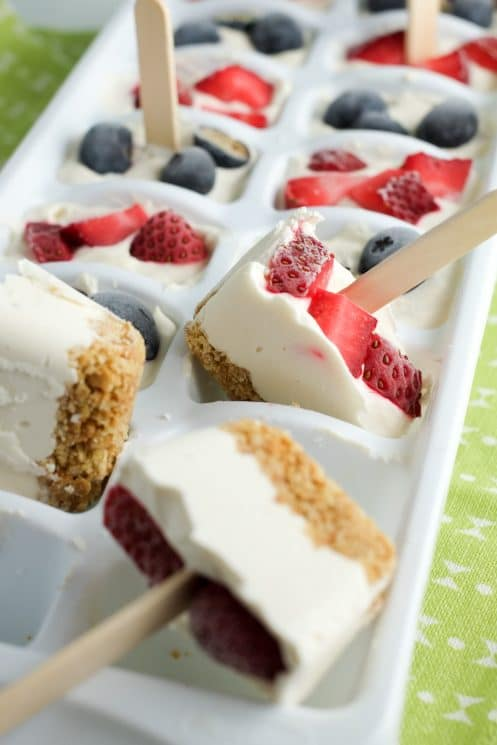 Bite sized frozen cheesecake is the perfect summer treat!