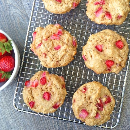 Whole Wheat Strawberry Muffins - Super
