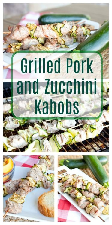 Grilled Pork and Zucchini Kabobs