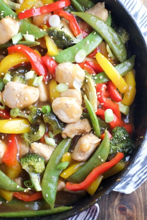 This stir-fry sauce is super thick and delicious!