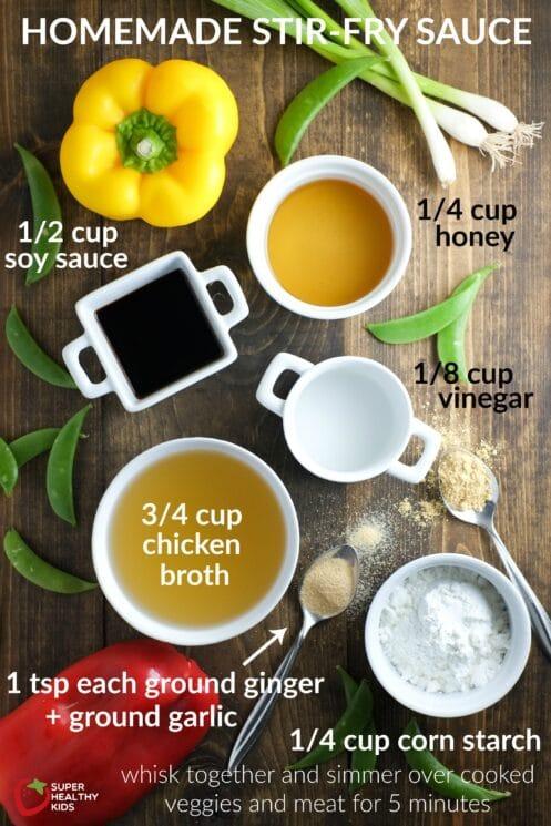 Easy stir-fry sauce recipe!! Homemade stir-fry sauce is a staple!