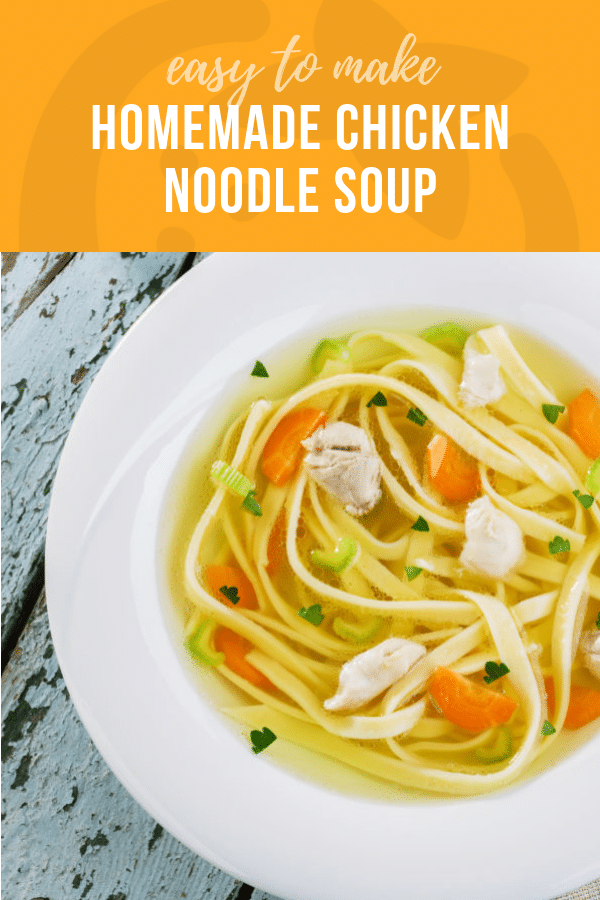 Homemade Chicken Noodle Soup  | Healthy Ideas and Recipes for Kids