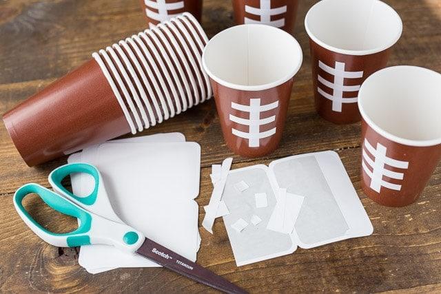 DIY cute football cups