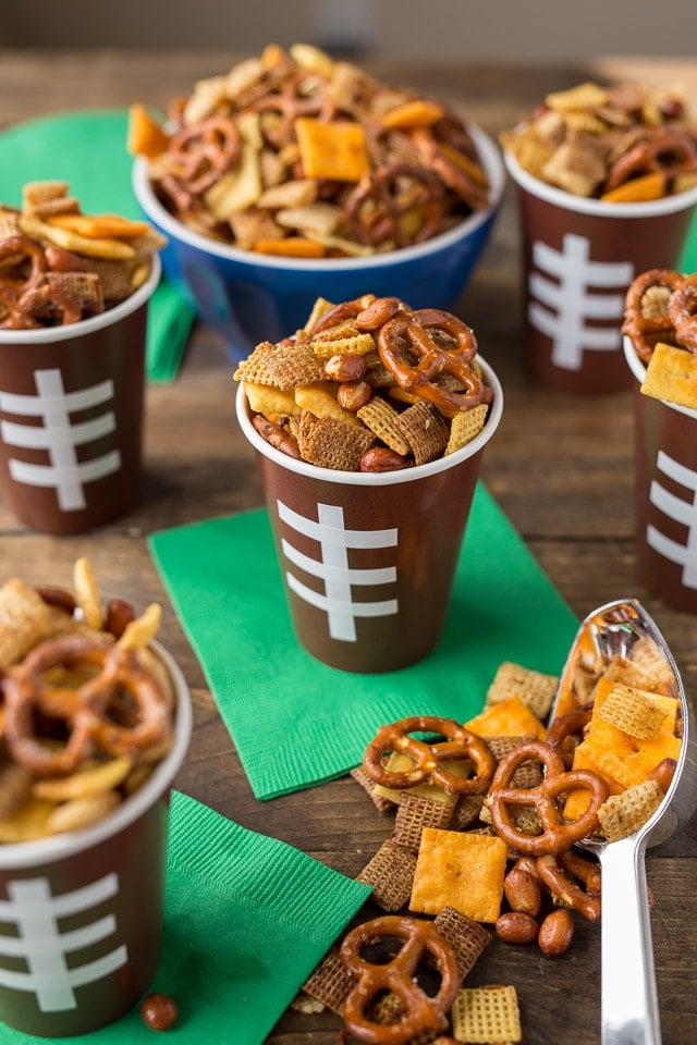 Parmesan Ranch Game Day Chex Mix made at home