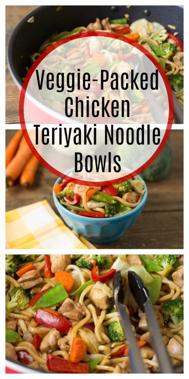 Veggie-Packed Chicken Teriyaki Noodle Bowls