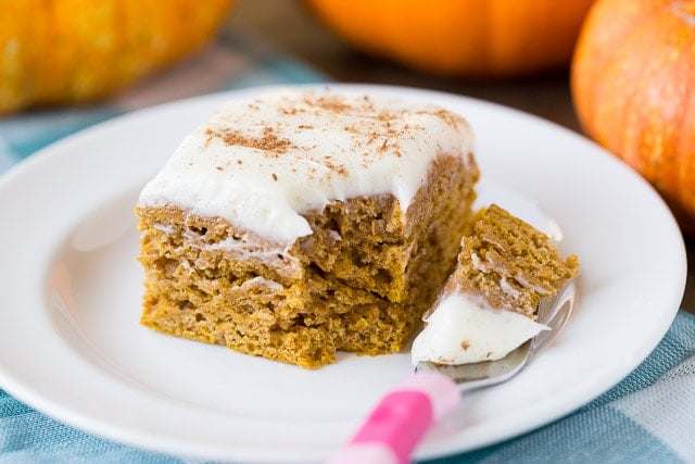 Making our favorite Healthy Pumpkin Spice Cake