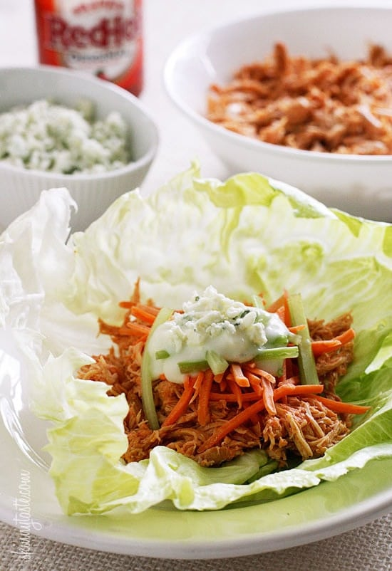 Healthy Instant Pot Appetizer Buffalo Chicken Lettuce Wraps