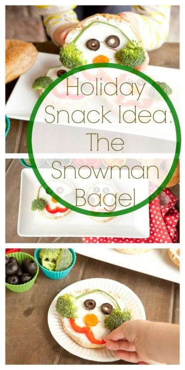 Holiday Snack Idea: The Snowman Bagel