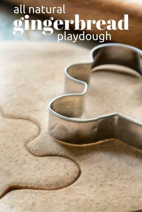 Natural Gingerbread Playdough