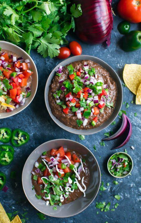Healthy Instant Pot Appetizer Black Bean Dip