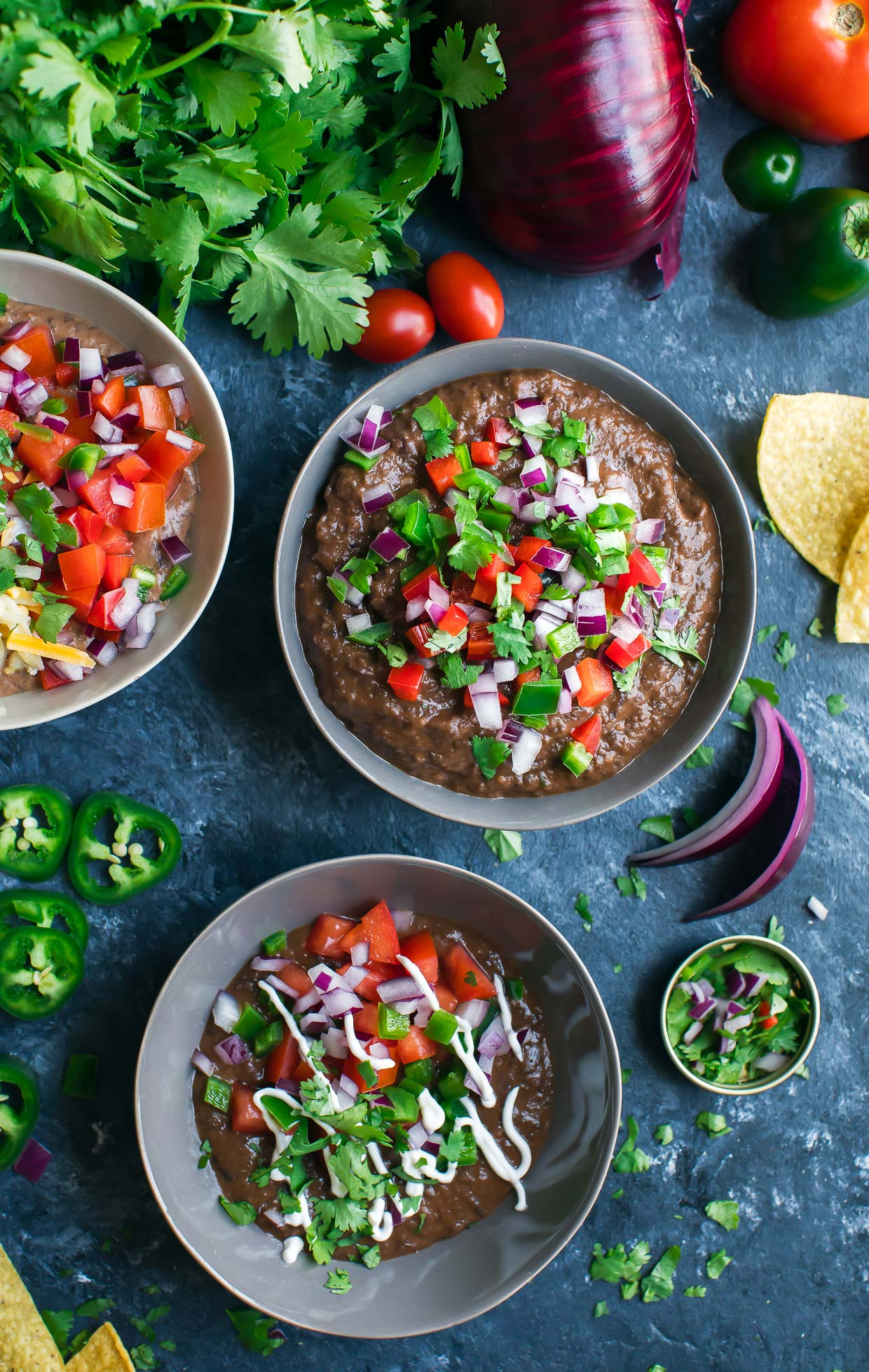 Healthy Instant Pot Appetizer Black Bean Dip