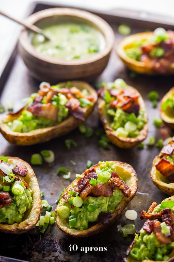 Healthy Instant Pot Appetizer Loaded Potato Skins