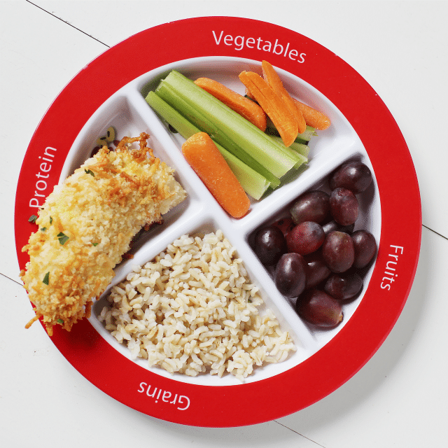 choose my plate for kids dinner idea