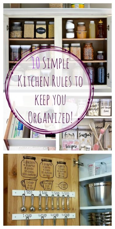 10 Simple Kitchen Rules to keep you Organized!