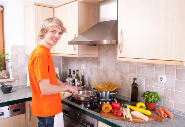 teenager boy learning to cook, Getting a Picky Eater to Eat