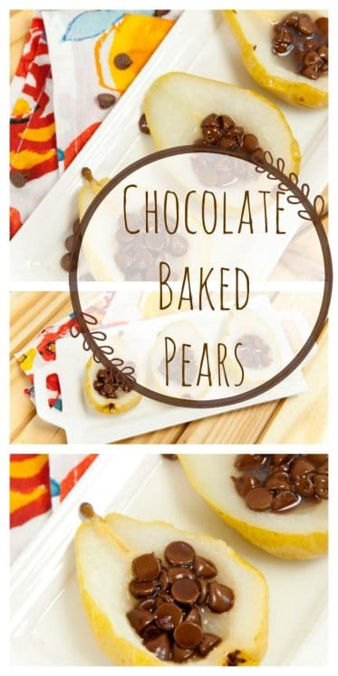 chocolate baked pears