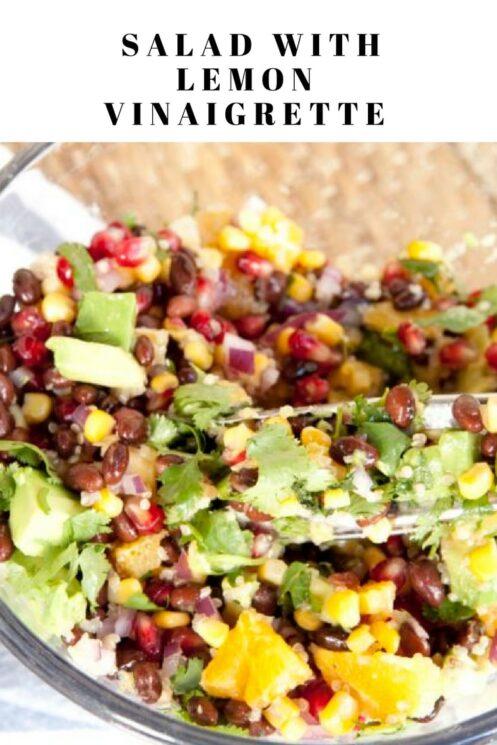 Super Food Salad with Lemon Vinaigrette