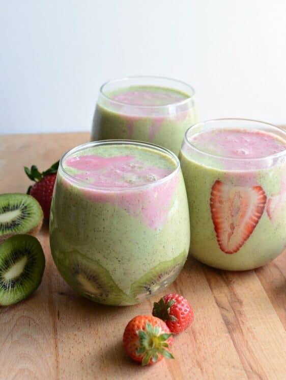 Winter Strawberry Kiwi Smoothie for Kids