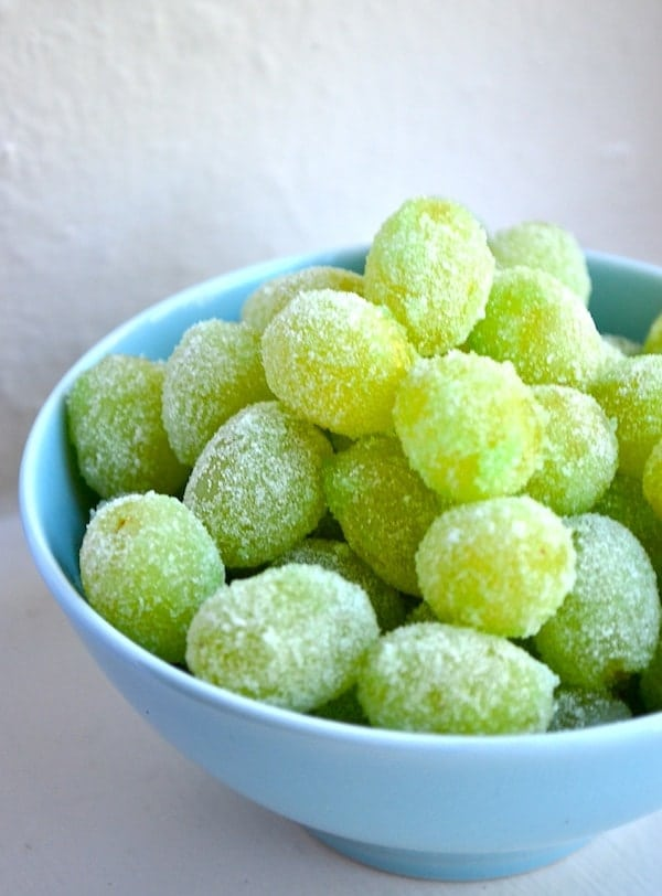 20 Fun and Healthy Food Ideas to Celebrate St. Patrick's Day, candied grapes