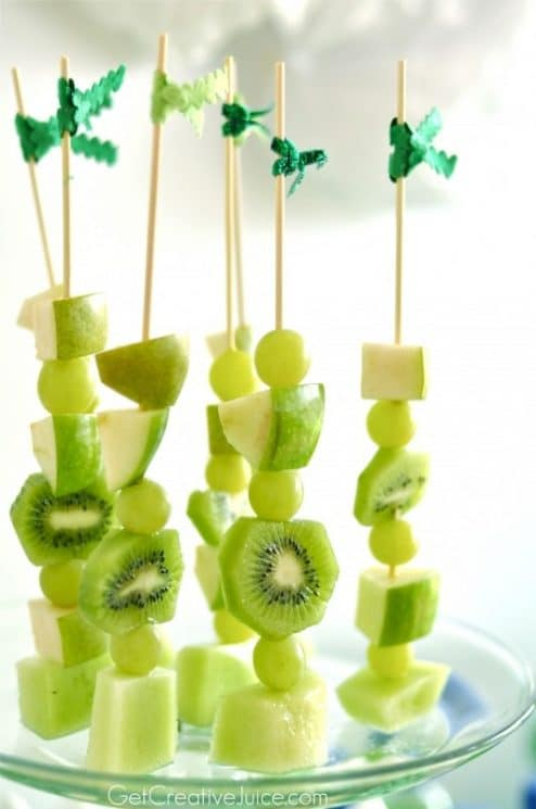 St. Patrick's Day Fun Fruit Skewers