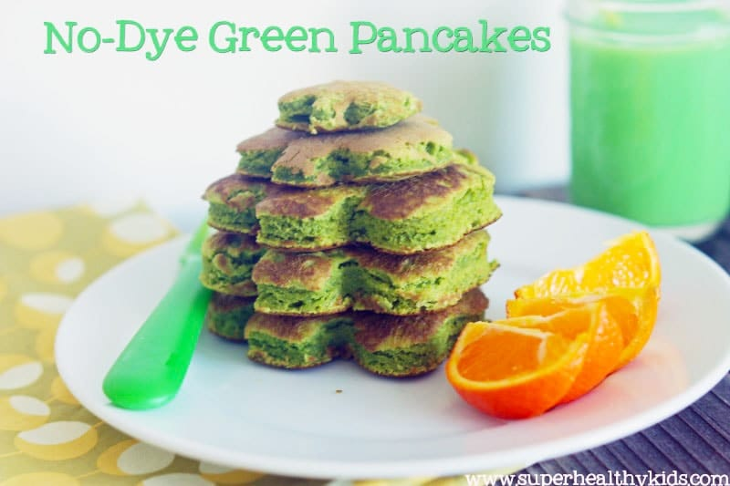 No-Dye Green Pancakes for St. Patrick's Day Fun Food, 20 Fun and Healthy Food Ideas to Celebrate St. Patrick's Day