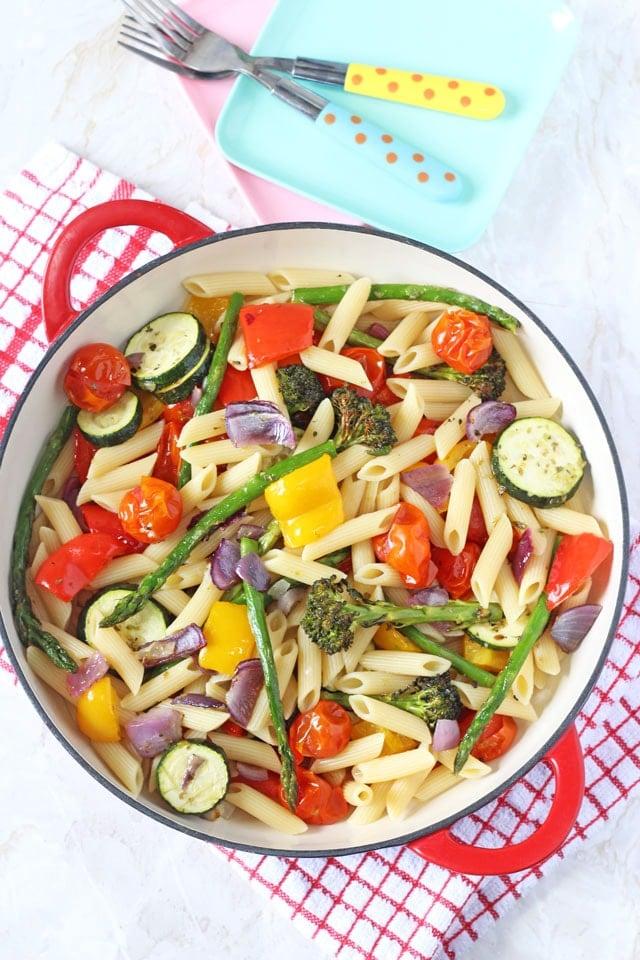 pasta with veggies, 10 Nutrient-Packed Pasta Recipes