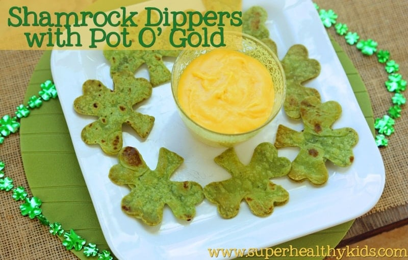 20 Fun and Healthy Food Ideas to Celebrate St. Patrick's Day, green tortilla chips and cheese
