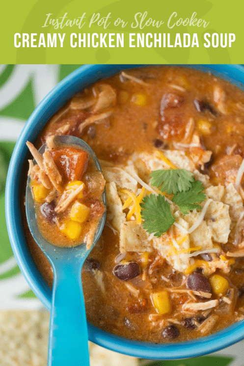 Creamy Chicken Enchilada Soup | Healthy Ideas and Recipes for Kids
