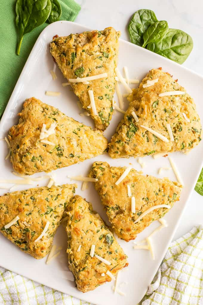Spinach Cheddar Scones Fun Healthy Food Ideas St. Patrick's Day