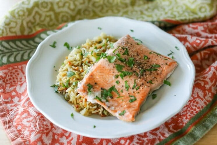 Pressure Cooker Salmon and Rice Pilaf Dinner Ideas, Popular Healthy Instant Pot {One Pot} Meals