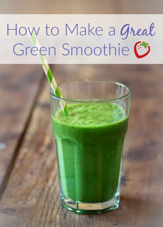 healthy fresh green smoothie