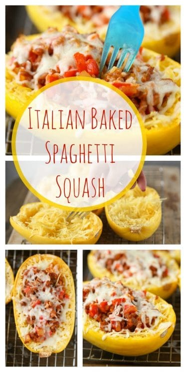 Italian Baked Spaghetti Squash