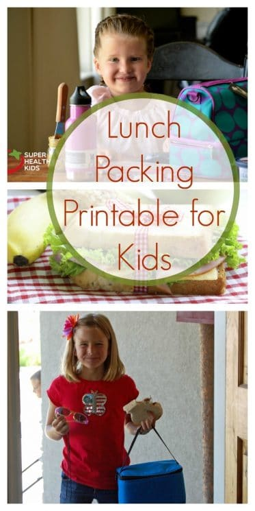 Lunch Packing Printable for Kids