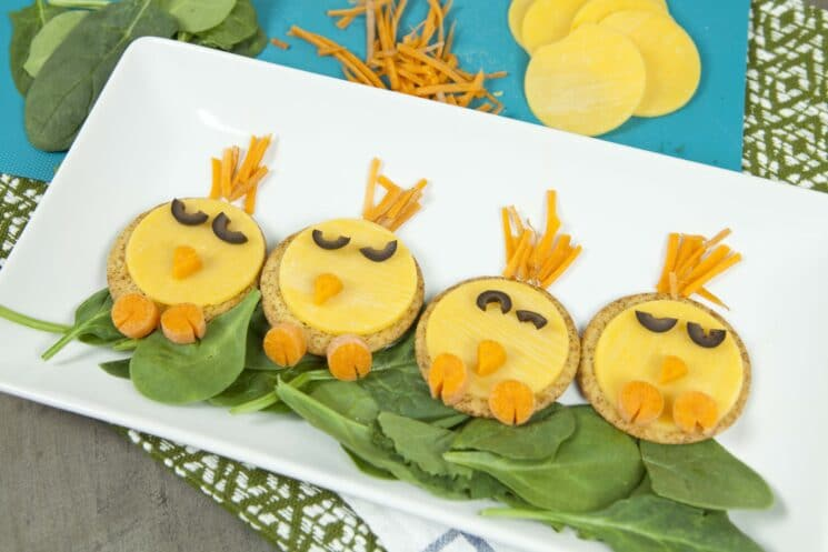 Spring Food Craft Snack: Chick Crackers - Super Healthy Kids
