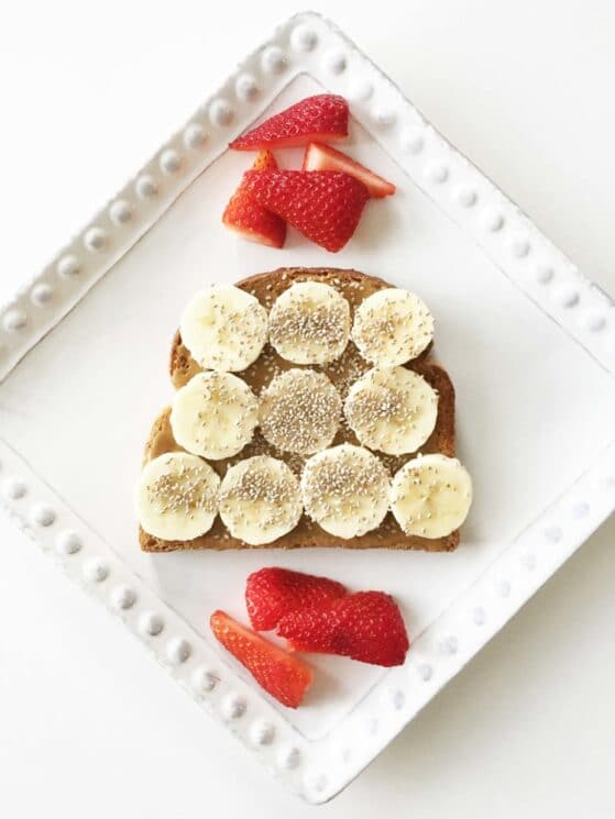 Sunbutter Banana Chia Seed Quick Breakfast Idea